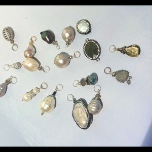 Pearl and gemstone pendants to add to necklaces
